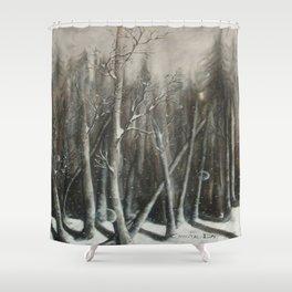 Winter Bubbles ~ Original Art Shower Curtain