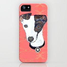 Greyhound Portrait iPhone Case