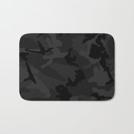 Camouflage Black Bath Mat