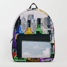 Aperitifs in New York Landscape Painting Backpack
