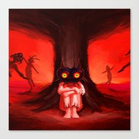 majora Canvas Prints featuring MAJORA MASK by Veylow