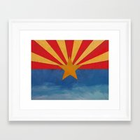 arizona Framed Art Prints featuring Arizona by Michael Creese