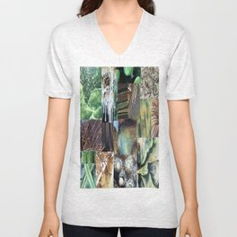 Collage - It's Not Easy Being Green Unisex V-Neck