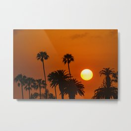 Sunset in the Palms Metal Print