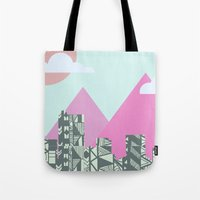 denver Tote Bags featuring denver by marney cinclair
