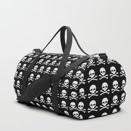 Skull and XBones in Black and White Duffle Bag