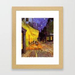 Vincent Van Gogh Cafe Terrace At Night Framed Art Print