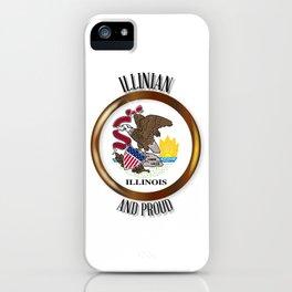 Illinois Proud Flag Button iPhone Case