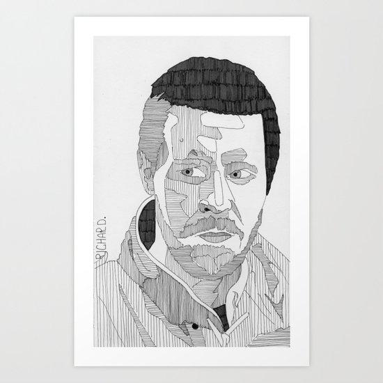 Richard. Art Print