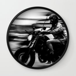 Bangkok Motorcyclist Wall Clock