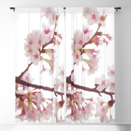Cherry Blossom Flowers Blackout Curtain