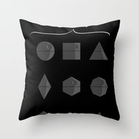 sith Throw Pillows featuring Sith geometry lessons by AGRIMONY // Aaron Thong