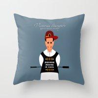 literature Throw Pillows featuring Victorian Literature - George Moore by Natallia Pavaliayeva