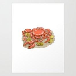Cajun Seafood Watercolor Art Print