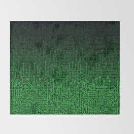 Reboot II GREEN Throw Blanket