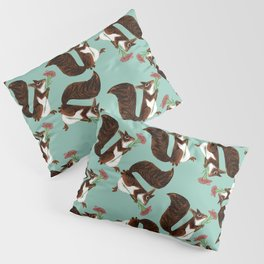 Squirrel with a flower Pillow Sham