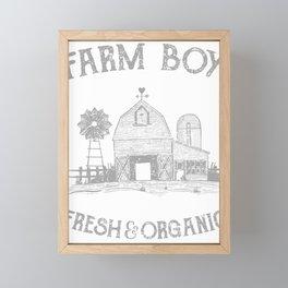 Cool Farmers Farmboy Fresh Organic Farm Life Planting Framed Mini Art Print