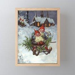 """Gathering Pine Boughs"" by Jenny Nystrom Framed Mini Art Print"