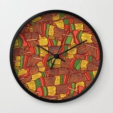 Shish Kebabs  Wall Clock