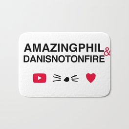 Amazingphil and danisnotonfire Bath Mat