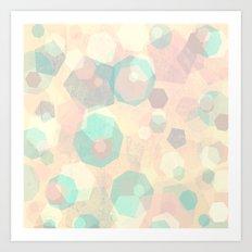 Pastel Geometric Pattern No 1  Art Print