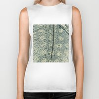feather Biker Tanks featuring feather by Ingrid Beddoes