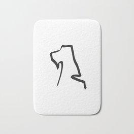 Stylish minimalist hand drawn airedale dog print Bath Mat