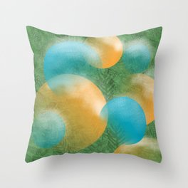 frosted ornaments Throw Pillow