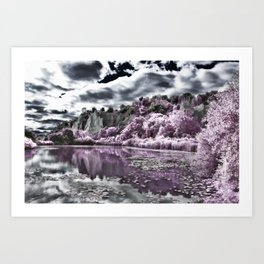 Scarborough Bluffs HDR and Infrared Art Print