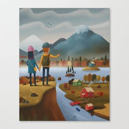 Into the mountains! Canvas Print
