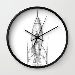 retro rocket Wall Clock