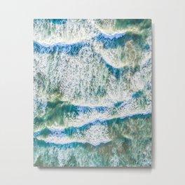 Aerial choppy waves Metal Print