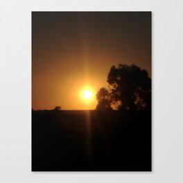 Sunset Inclusion Canvas Print