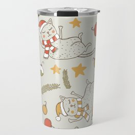 Christmas Cats Travel Mug