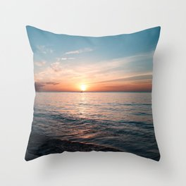 Hawaii sunset Throw Pillow