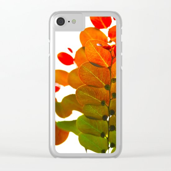 Light through leaves Clear iPhone Case