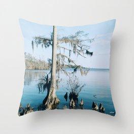 Crystalline Cypress Throw Pillow