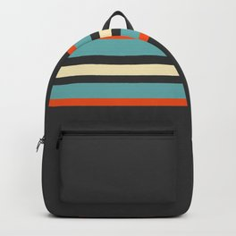 Classic Retro Stripes Amikiri Backpack