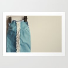 Doll Closet Series - Blue Dress Art Print