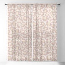 Leopard Print Nude  Sheer Curtain
