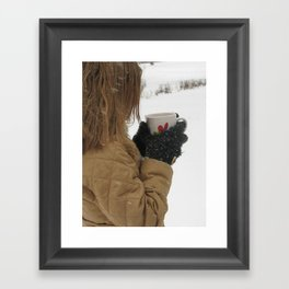 A Hot Drink On a Cold Day Framed Art Print