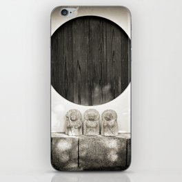 Jizo in Black and White, Kyoto iPhone Skin