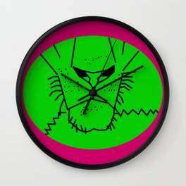 Green Lion Mouth Wall Clock