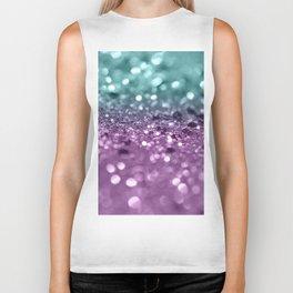 Aqua Purple MERMAID Girls Glitter #2 #shiny #decor #art #society6 Biker Tank