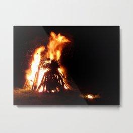 Burning Bonfire Metal Print