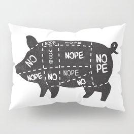 alternative pig meat cut chart vegan and vegetarian Pillow Sham