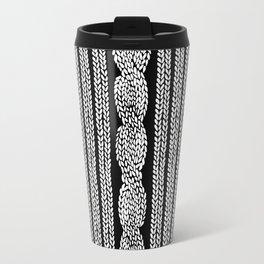 Cable Stripe Black Travel Mug