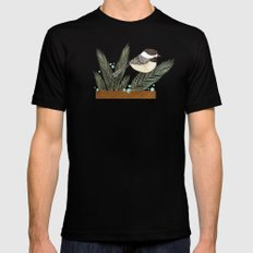 Chickadee Mens Fitted Tee Black SMALL