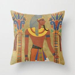 egyptian tutunkhamun pharaoh design Throw Pillow
