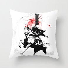 Samurai Japan Throw Pillow